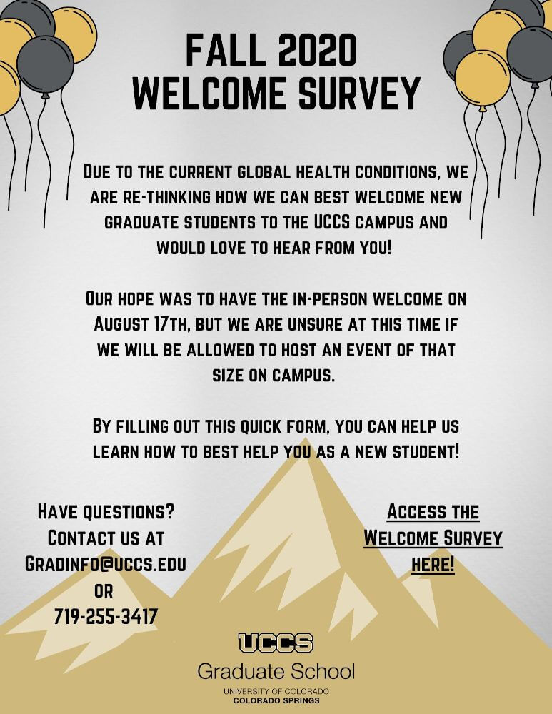 Fall Welcome survey